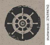 Boat Symbol Design On Grunge...