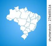 brazil map   Shutterstock .eps vector #276600116