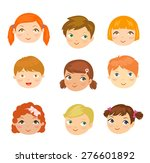 people face set | Shutterstock .eps vector #276601892