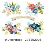 vintage floral elements... | Shutterstock .eps vector #276602006