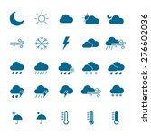 weather icon set. isolated... | Shutterstock .eps vector #276602036