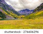 autumn mountain  landscape on a ... | Shutterstock . vector #276606296