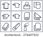 vector icon set of towels ... | Shutterstock .eps vector #276607322