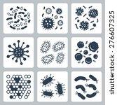 vector bacteria  microbes icon... | Shutterstock .eps vector #276607325