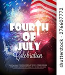 stylish text fourth of july ... | Shutterstock .eps vector #276607772