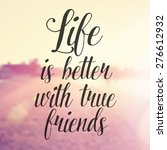 inspirational typographic quote ... | Shutterstock . vector #276612932