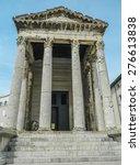 temple of augustus in pula ... | Shutterstock . vector #276613838