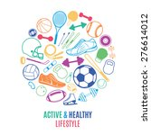 sport equipment  healthy... | Shutterstock .eps vector #276614012