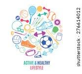 sport equipment  healthy... | Shutterstock .eps vector #276614012