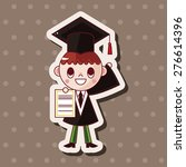 graduate student   cartoon... | Shutterstock . vector #276614396