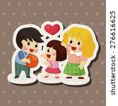 family   cartoon sticker icon   Shutterstock . vector #276616625