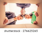 group of friends moving to new... | Shutterstock . vector #276625265