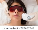 close up of beautician giving... | Shutterstock . vector #276627242