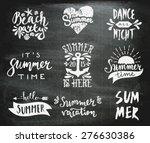a set of chalkboard style... | Shutterstock .eps vector #276630386