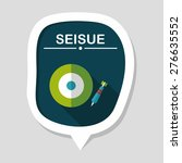 darts target flat icon with... | Shutterstock .eps vector #276635552