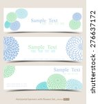set of horizontal banners with...   Shutterstock .eps vector #276637172