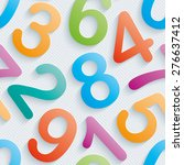 colorful numbers wallpaper.... | Shutterstock .eps vector #276637412
