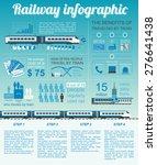 railway infographic. set... | Shutterstock .eps vector #276641438