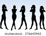 vector image   woman silhouette ... | Shutterstock .eps vector #276645962