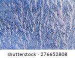 white frost on windowpane | Shutterstock . vector #276652808