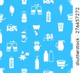 milk and milk product theme... | Shutterstock .eps vector #276657272