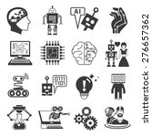 artificial intelligence icons ... | Shutterstock .eps vector #276657362