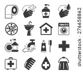 hygiene icons set | Shutterstock .eps vector #276658862