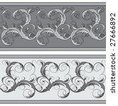 ornate seamless border | Shutterstock .eps vector #27666892