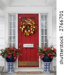 beautiful holiday entrance - stock photo