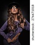 beautiful hip hop girl in... | Shutterstock . vector #276671018