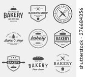 vector set of bakery labels ... | Shutterstock .eps vector #276684356