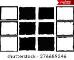 grunge frame texture set  ... | Shutterstock .eps vector #276689246