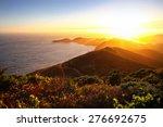 Dramatic Coastal Sunset With...
