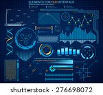 futuristic interface  hud ... | Shutterstock .eps vector #276698072