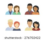 flat four various couples... | Shutterstock . vector #276702422
