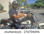 Oakland Policeman Poses On His...