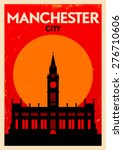 manchester city vintage poster... | Shutterstock .eps vector #276710606