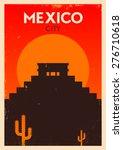 Mexico Vintage Poster Design