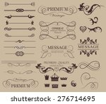 set of calligraphic elements... | Shutterstock .eps vector #276714695