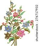 batik vector.fabric background... | Shutterstock .eps vector #276717932