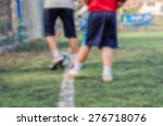 blurred kid soccer player in... | Shutterstock . vector #276718076