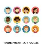 set of diverse round avatars... | Shutterstock .eps vector #276722036