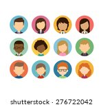 set of diverse round... | Shutterstock .eps vector #276722042