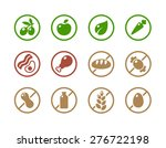 set of round icons of various... | Shutterstock .eps vector #276722198