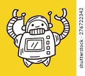 doodle robot   Shutterstock .eps vector #276722342