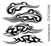 tribal flames armband tattoos  | Shutterstock .eps vector #276731546