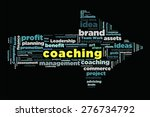 coaching word on cloud concept... | Shutterstock . vector #276734792