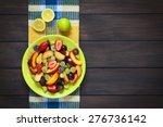 Fresh Fruit Salad Made Of Grap...