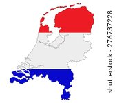 map of netherlands painted in... | Shutterstock .eps vector #276737228
