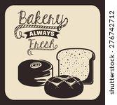 bakery design over beige... | Shutterstock .eps vector #276742712